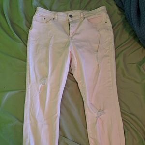 Lauren Conrad pink skinny jeans